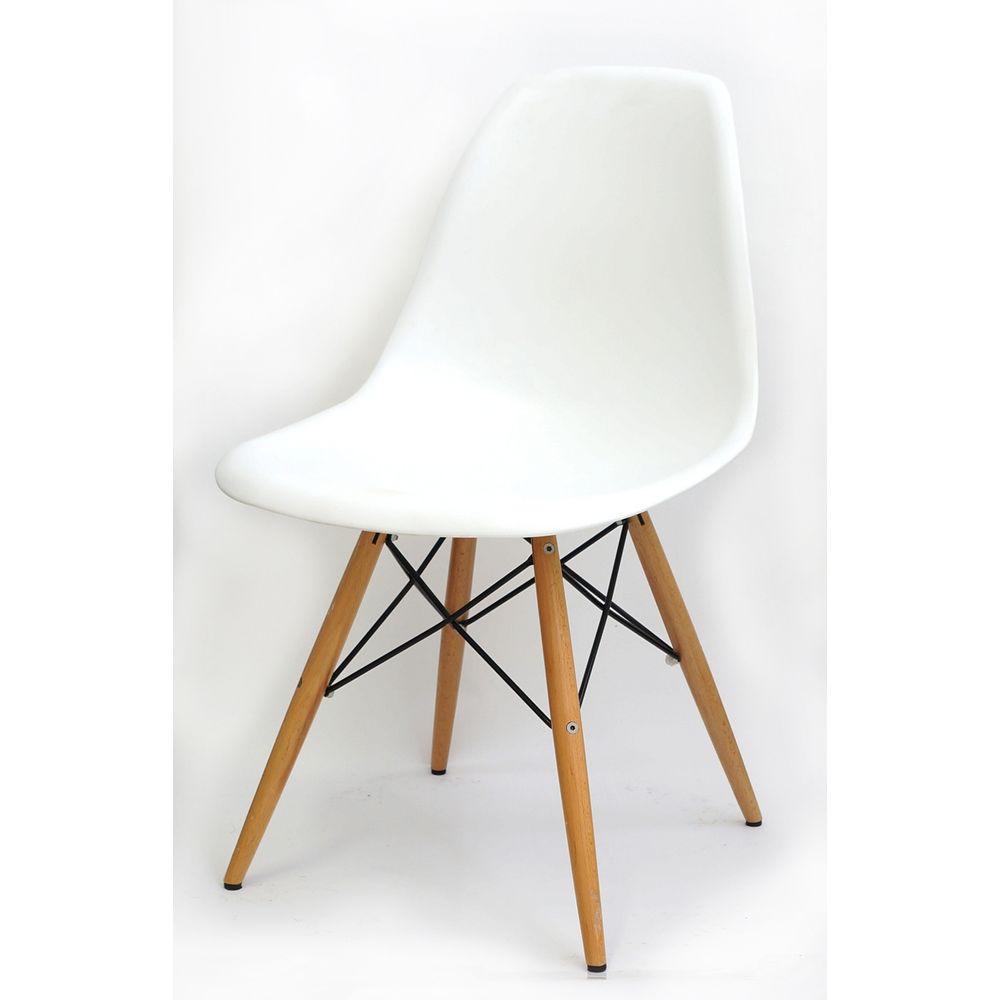 banco de jardim leme tramontina branca:Cadeira Eames Polipropileno Branco Fosco Madeira -10255 – SunHouse