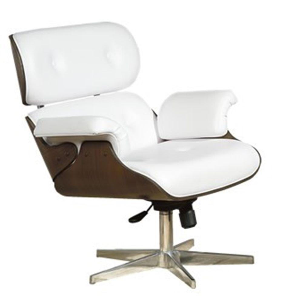 banco de jardim leme tramontina branca:Cadeira de Escritorio Presidente Charles Eames Branca 15945 – SunHouse