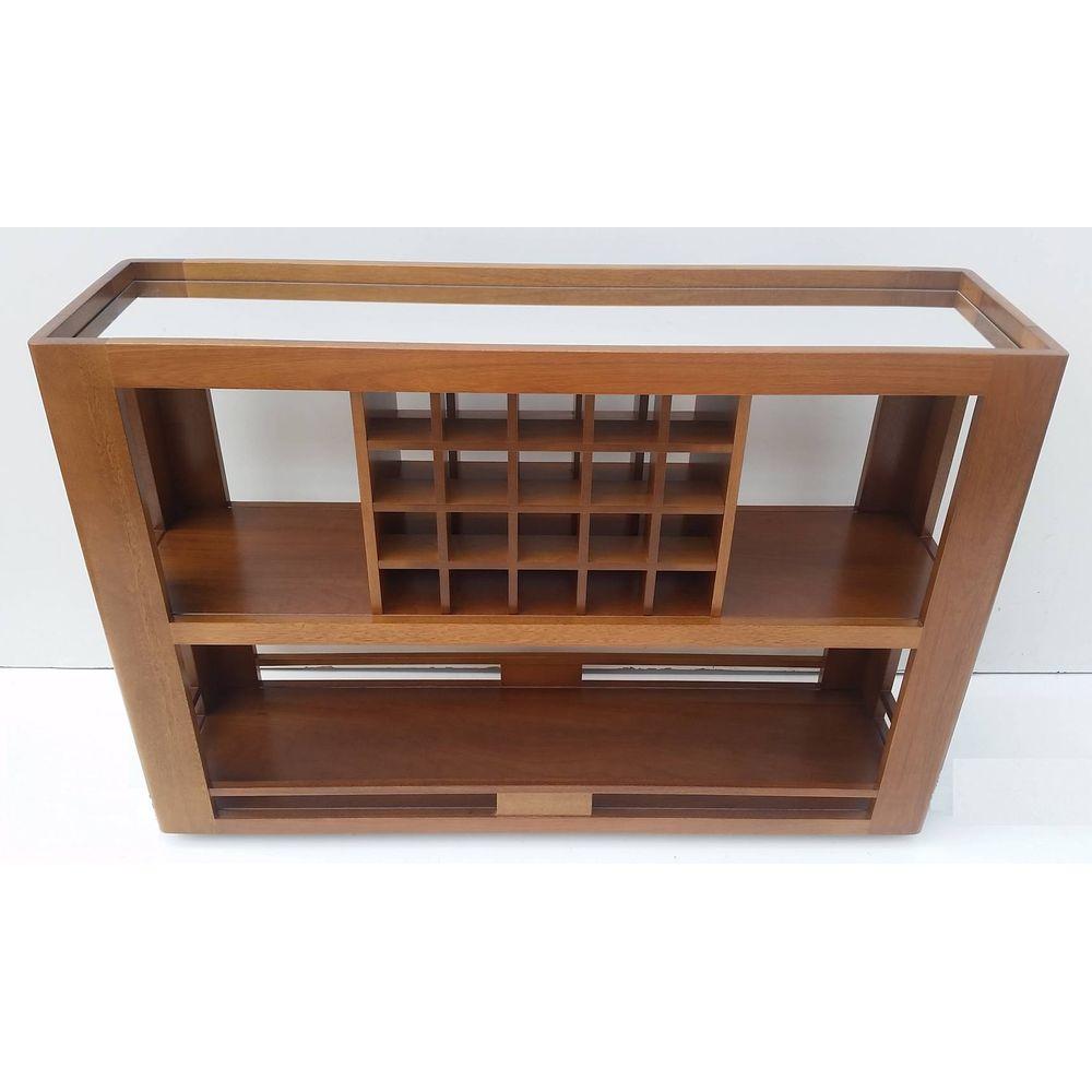 Armario Para Ropa Blanca Ikea ~ Aparador Bar Mariscal C Espelho Cor Pinhao 10288 SunHouse
