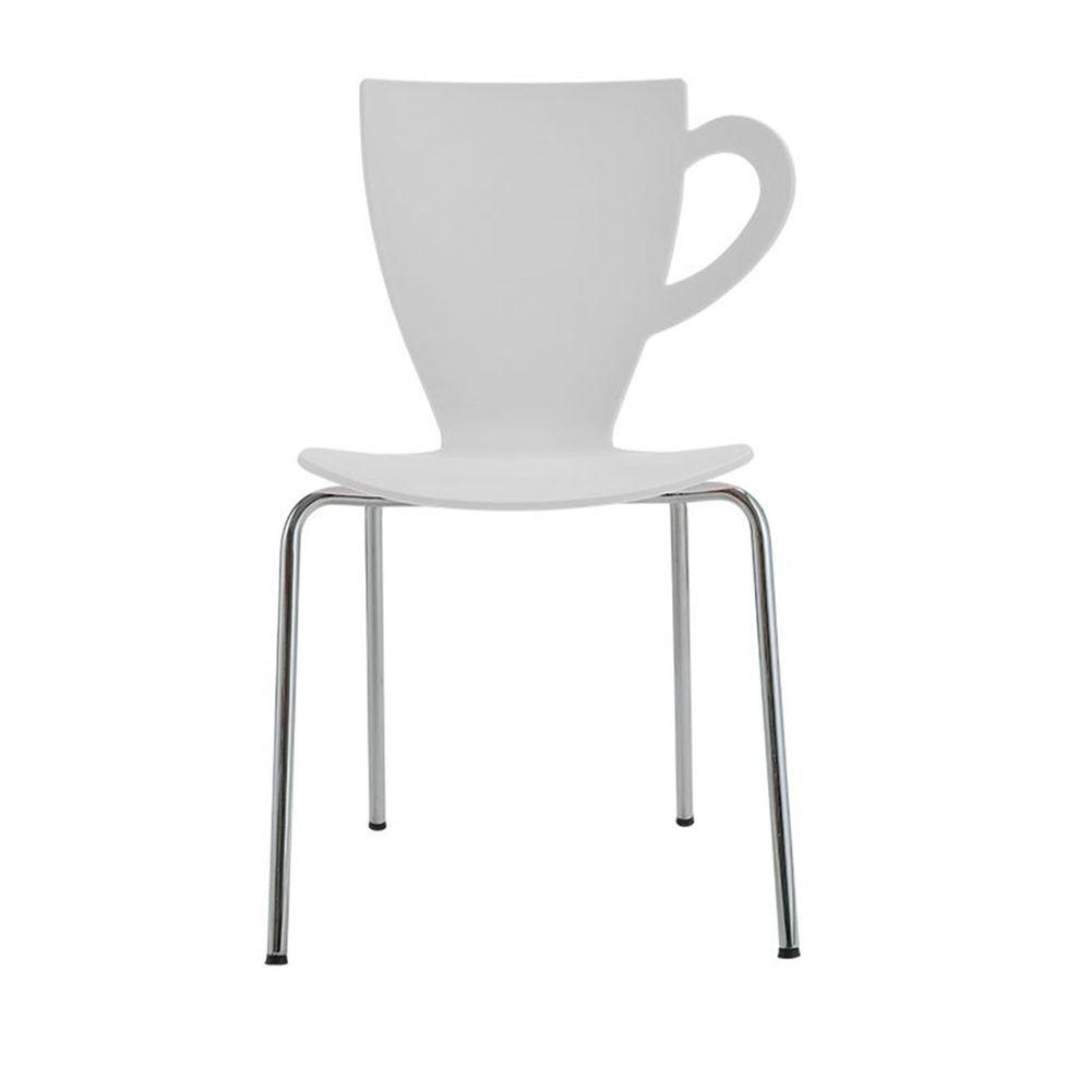 banco de jardim leme tramontina branca:Cadeira Cafe Paris Polipropileno Cor Branco – 29772 – SunHouse