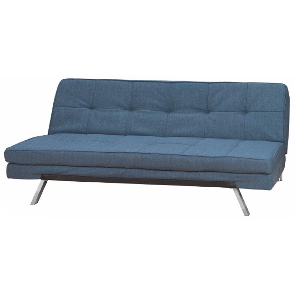 Sofa cama chess hb152 f cor azul 27028 sunhouse for Divan cama completo