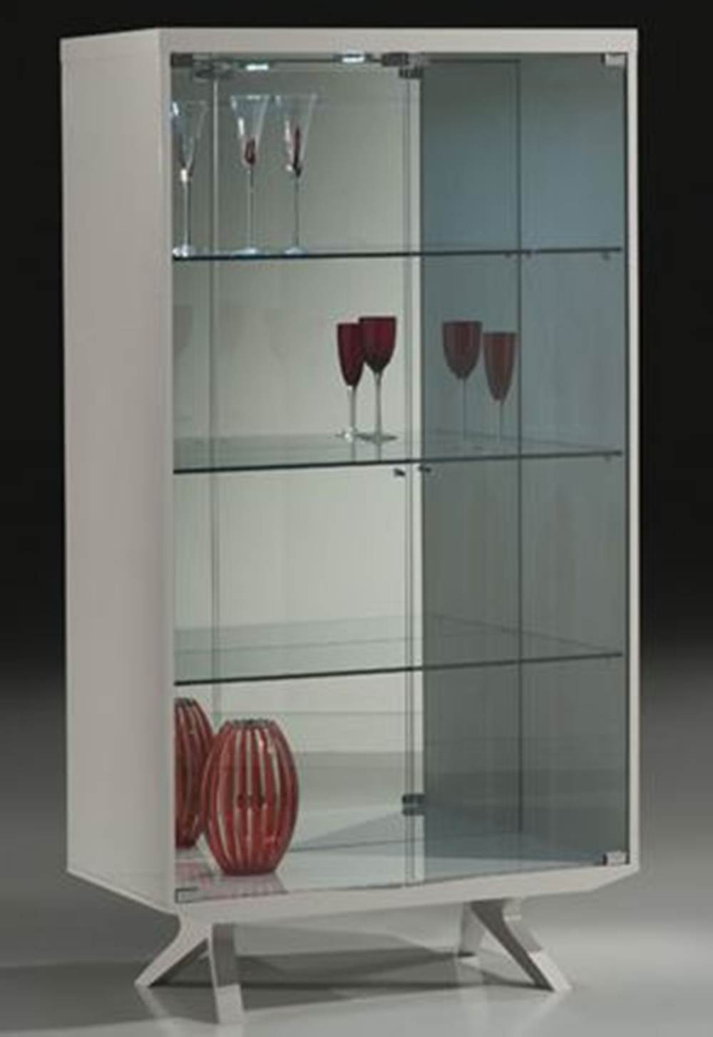 Cristaleira Zami Laca Off White Brilho 90 cm - 32403 Sun House