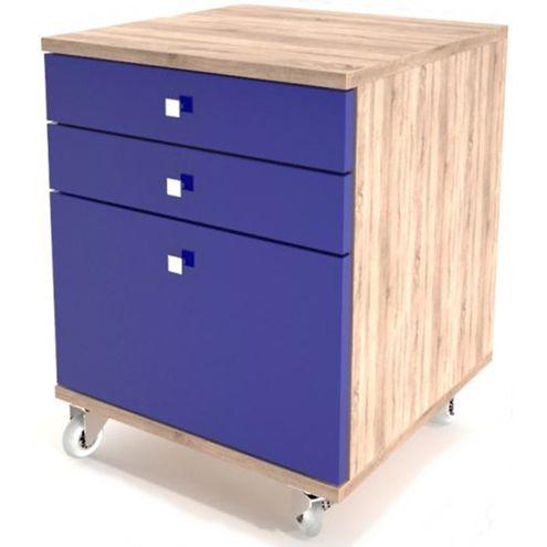 Criado-Mudo-com-Rodizio-3-Gavetas-em-Laca-Azul---32927