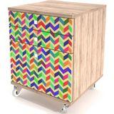 Criado-Mudo-Color-3-Gavetas-Impressas-com-Rodizios---32934-