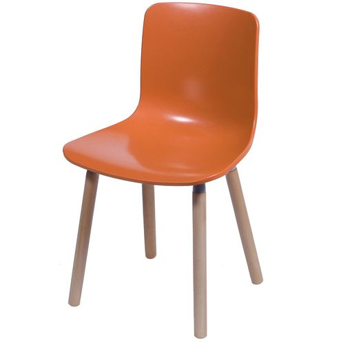Cadeira-Polipropileno-Laranja-Fosco-Base-Madeira---33766