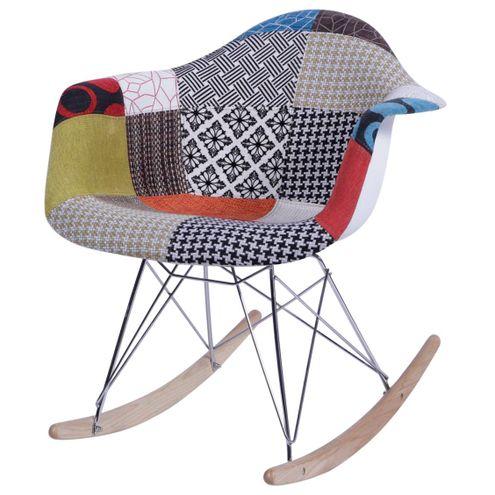 Cadeira Charles Eames Patchwork Base Balanco - 36364