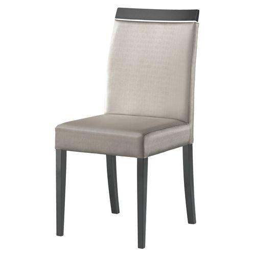 Cadeira Marbela Mad. Macica Pe Laca Preto Semibrilho