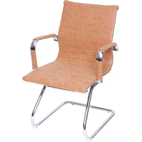 Cadeira Escritorio Eames Fixa Courissimo Caramelo - 37607
