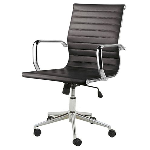 Cadeira-Sevilha-Eames-Baixa-Cromada-PU-Preta-