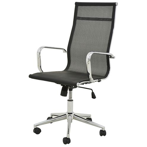 Cadeira-Sevilha-Eames-Alta-Cromada-Tela-Preta