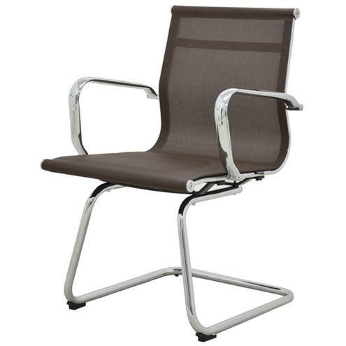 Cadeira-Sevilha-Eames-Fixa-Cromada-Tela-Cafe