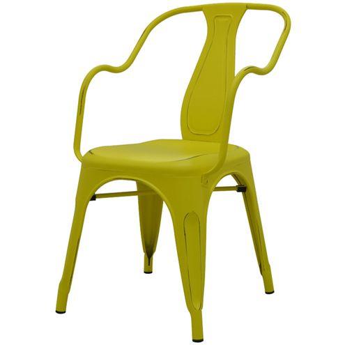Cadeira-Tolima-Com-Braco-Vintage-Amarelo-em-Aco