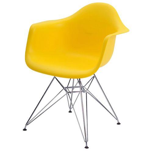 Cadeira-INFANTIL-Eames-Eiffel-PP-Amarelo-Pe-Cromado