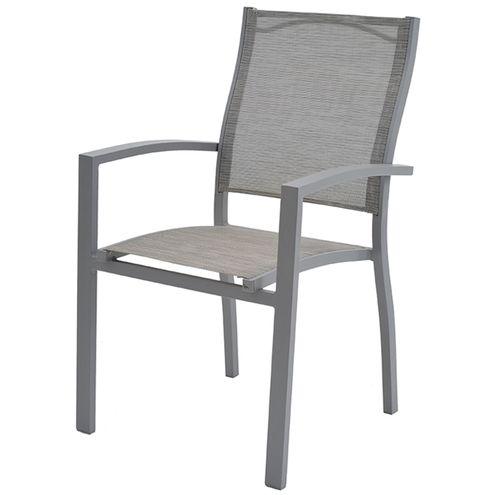 Cadeira-Popis-com-Bracos-Tela-Cinza-Base-Cinza