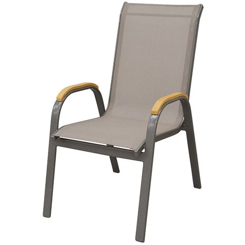 Cadeira-Juquei-com-Bracos-Tela-Bege-Base-Marrom