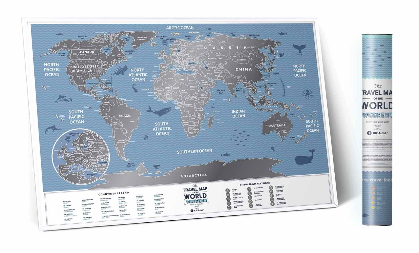Mapa Mundi de Viagens Raspavel Weekend World - 39331 Sun House