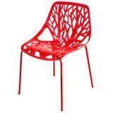 Cadeira-Planta-Assento-Polipropileno-Base-Aco-Cor-Vermelha