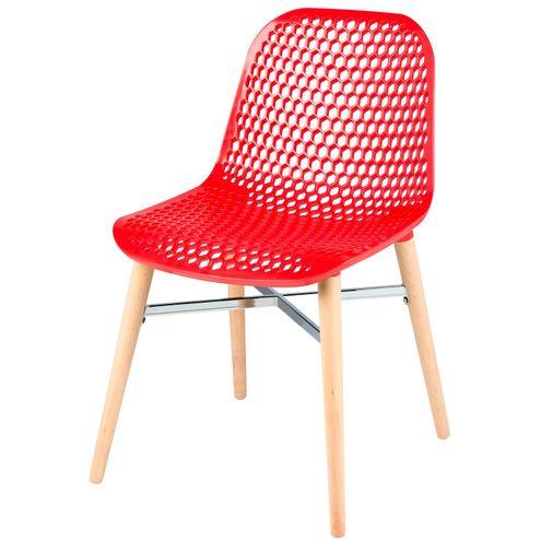 Cadeira-Vogue-Assento-Polipropileno-Base-Madeira-Cor-Vermelha