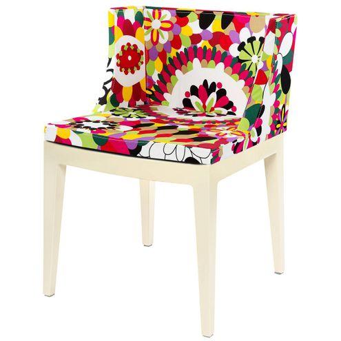 Cadeira-Mademoiselle-Estampa-Floral-Rosas-Base-Branca-
