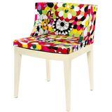Cadeira-Mademoiselle-Estampa-Floral-Gerberas-Base-Branca