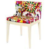 Cadeira-Mademoiselle-Estampa-Floral-Margaridas-Base-Branca