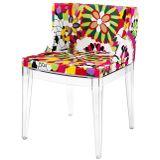 Cadeira-Mademoiselle-Estampa-Floral-Margaridas-Base-Transparente