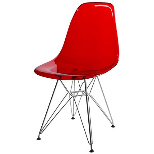 Cadeira-DKR-Eames-Policarbonato-Vermelho-Base-Aco-Inox