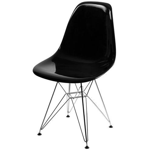 Cadeira-DKR-Eames-Policarbonato-Preto-Base-Cromada