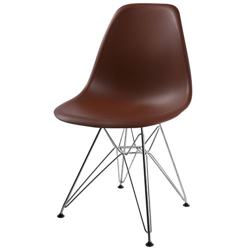 Cadeira-DKR-Eames-Polipropileno-Marrom-Base-Aco-Inox