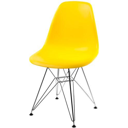 Cadeira-DKR-Eames-Polipropileno-Amarelo-Base-Cromada