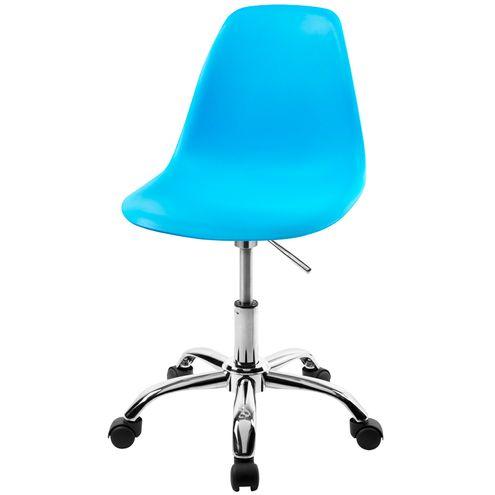Cadeira-DKR-Eames-Polipropileno-Azul-Base-Cromada-Rodizios