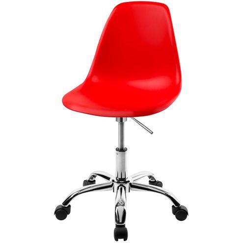 Cadeira-DKR-Eames-Polipropileno-Vermelho-Base-Cromada-Rodizios