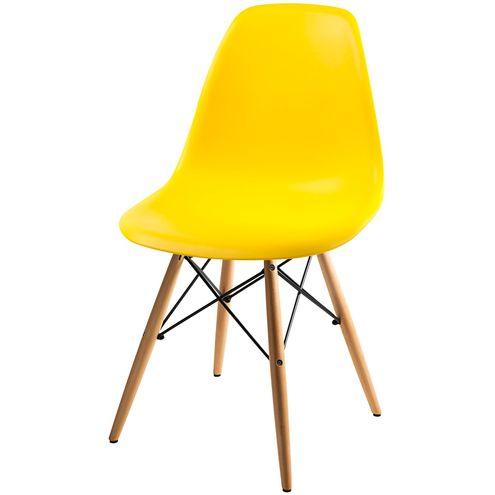 Cadeira-DKR-Eames-Polipropileno-Amarelo-Base-Madeira