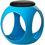 Puff-Esfera-em-ABS-Assento-PU-Cor-Azul-
