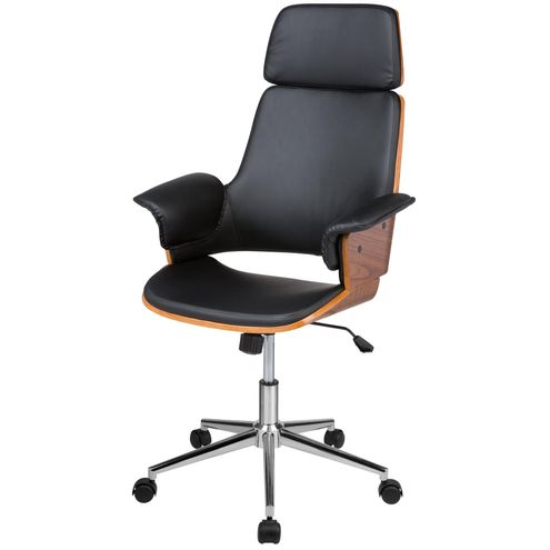 Cadeira-Office-Caiscais-em-PU-Preto-Base-Cromada