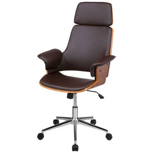 Cadeira-Office-Caiscais-em-PU-Marrom-Base-Cromada