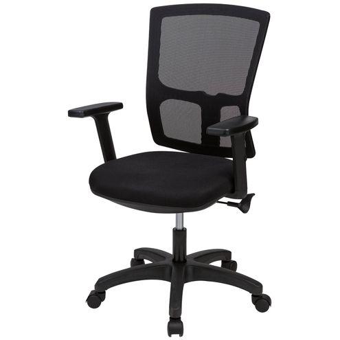 Cadeira-de-Escritorio-Basic-Tela-Mesh-Base-Nylon-Cor-Preta