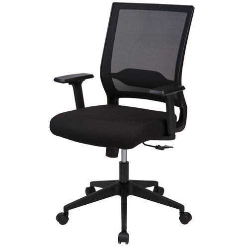 Cadeira-Office-Tampa-Tela-Mesh-Preta-Base-Nylon-Preta