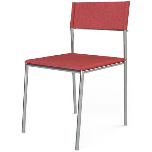 Cadeira-Elegante-Couro-Prensado-Vermelho-Estrutura-Cromada---41038