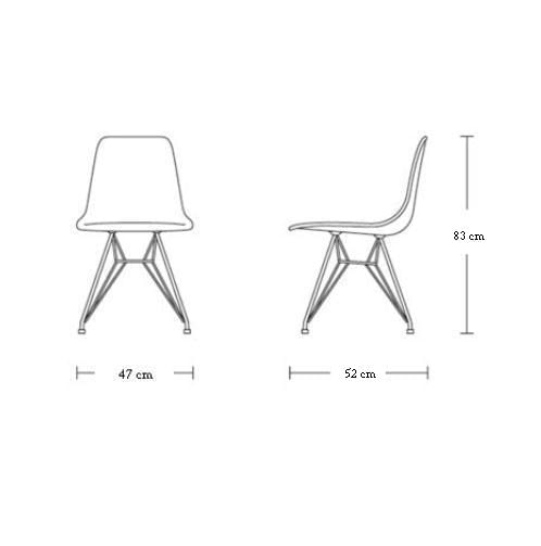 Cadeira Eames Polipropileno Amarelo Base Cromada - 14907