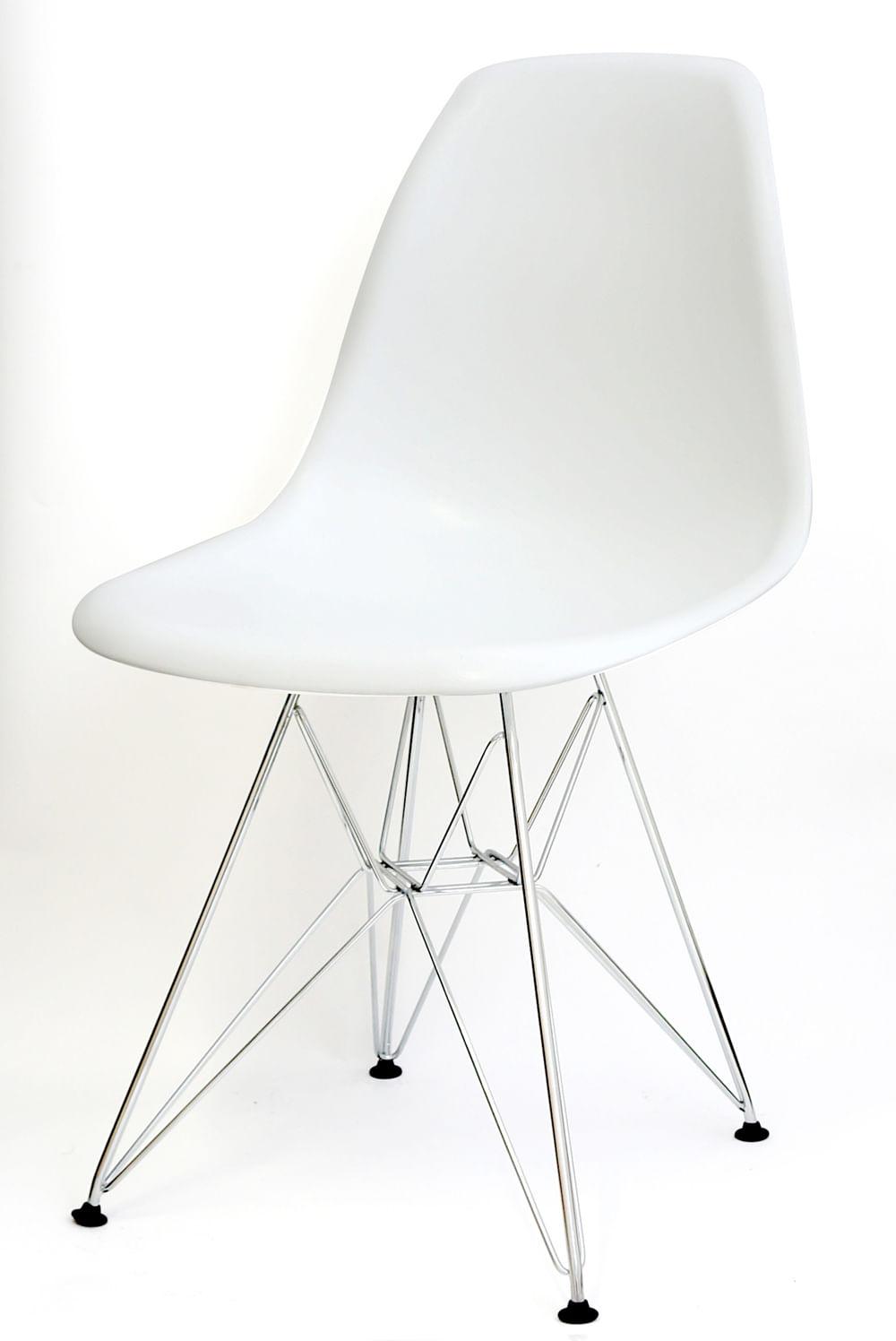 Cadeira Eames Polipropileno Branco Base Cromada - 9521