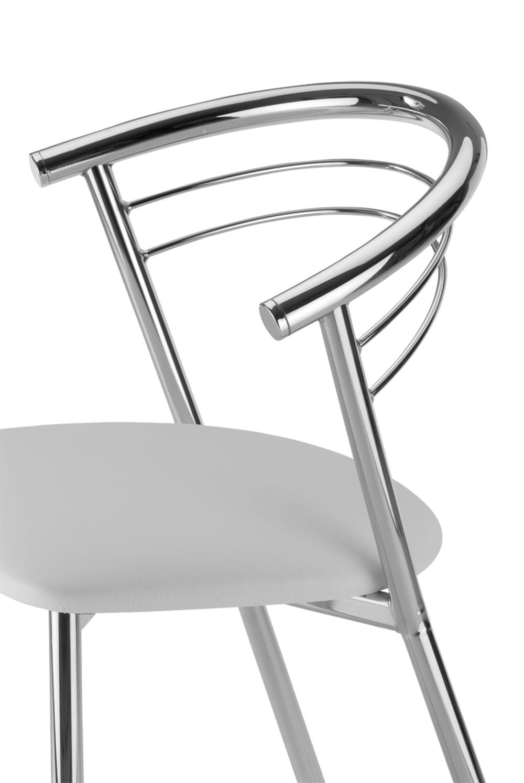Cadeira Cromada Assento Korino Branco 12237