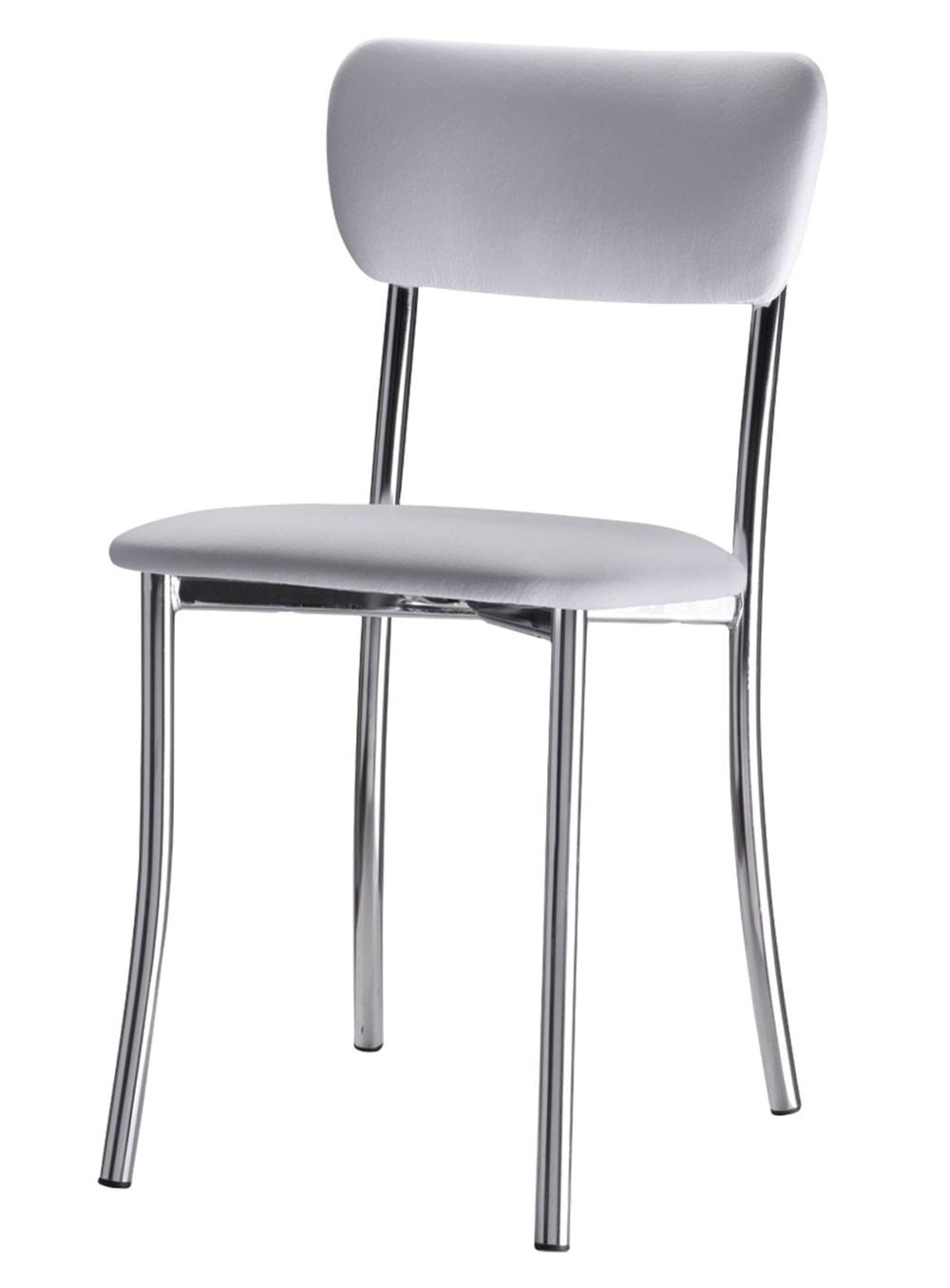 Cadeira Estofada Korino Branco 12253
