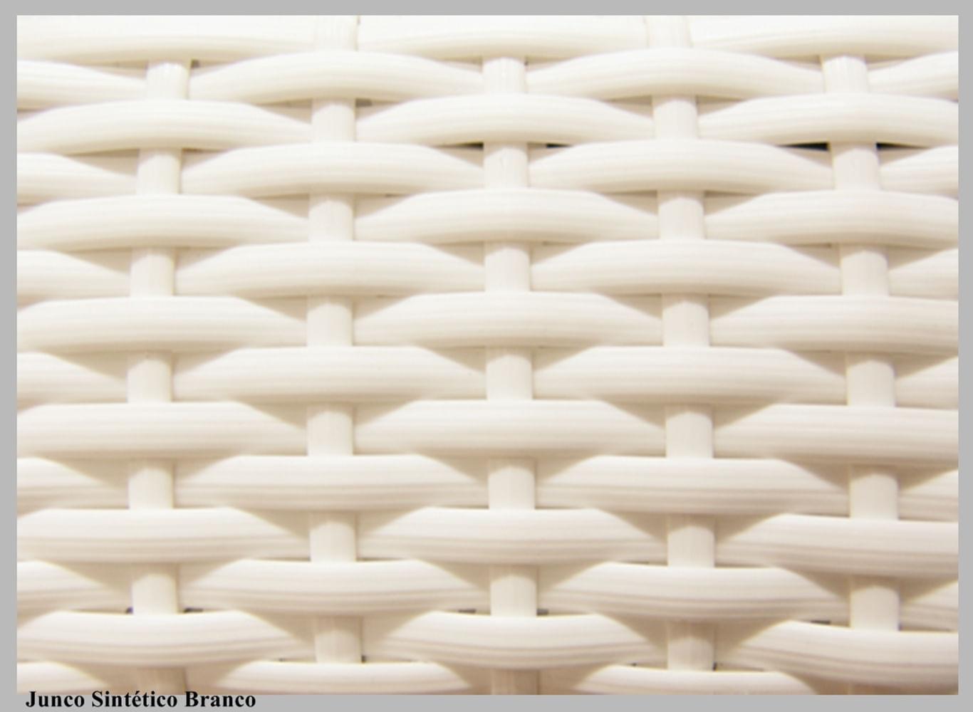 Cadeira  Assento Korino Preto Enc. Junco Branco 12285