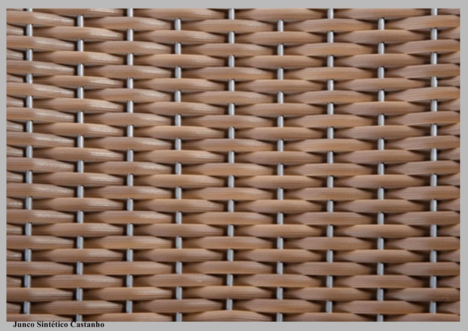 Cadeira Assento Korino Branco Enc. Junco Castanho 12288
