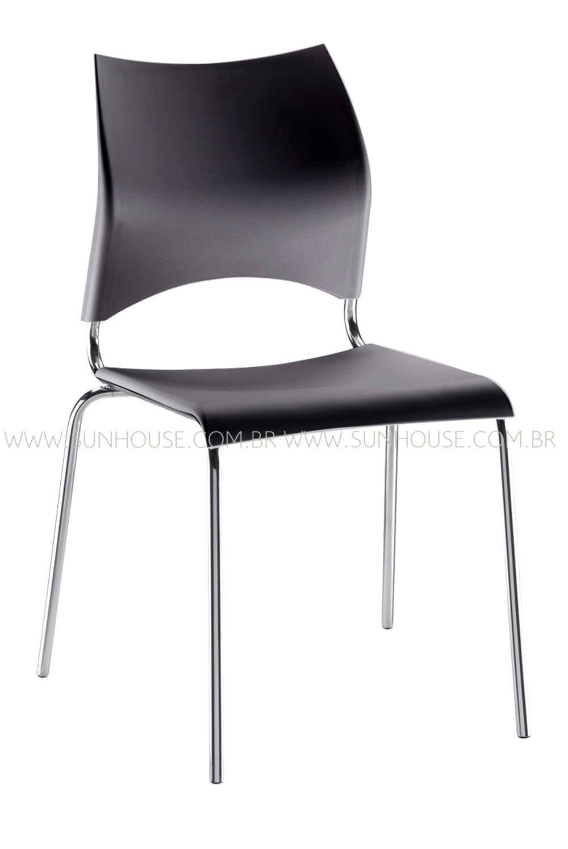 Cadeira em Polipropileno Preto 12272