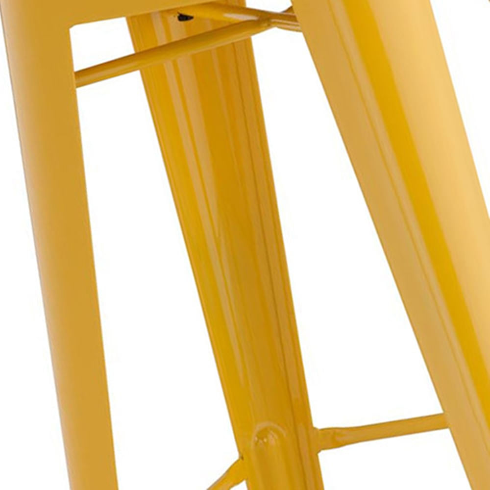 Banqueta Iron Tolix Amarelo - 16657