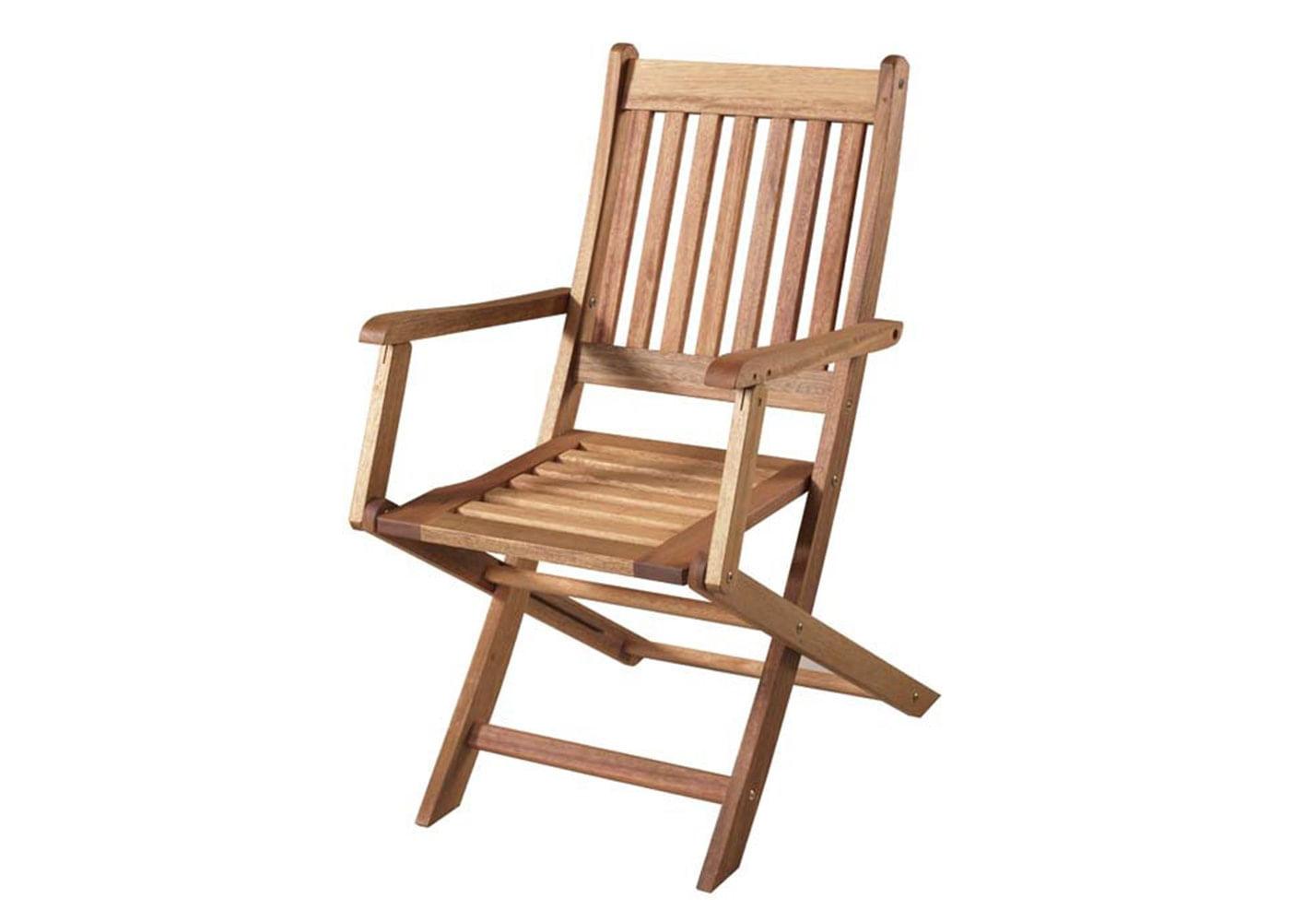 Cadeira Dobravel Com Braco Cor Stain Jatoba - 15555