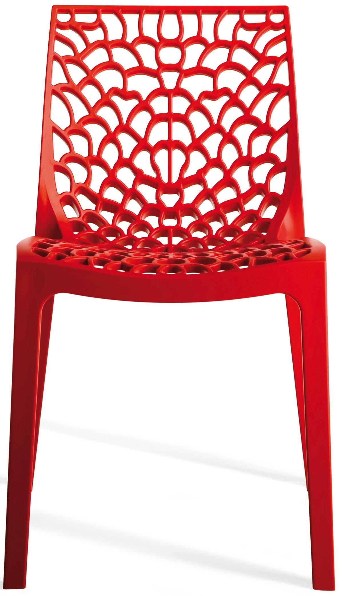 Cadeira Gruver Polipropileno Vermelha - 15118