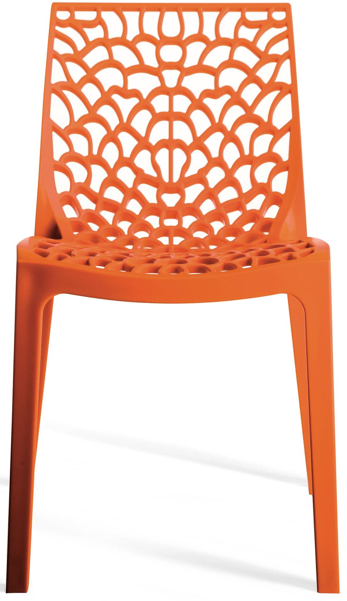 Cadeira Gruver Polipropileno Laranja - 15117